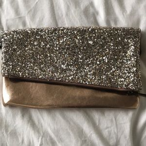 Express Bags - Express rose gold sparkle clutch and card case
